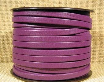 5mm Regaliz Premier Flat Leather - Purple - P5-8 - Choose Your Length