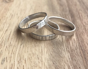 One Sterling Silver Ring, Sterling Silver Stacking Rings, Sterling Silver Ring, Stacking Rings