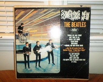 Vintage 1964 LP Record The Beatles Something New Capitol Records T-2108 Mono Good Condition 12936