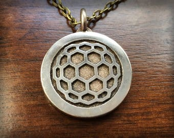 Overwatch Zarya Stainless Steel 3D Printed Pendant and Keychain