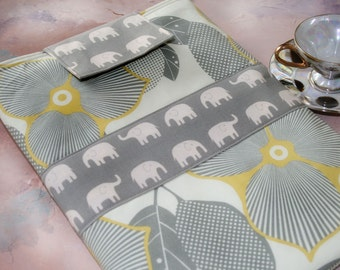"""Macbook Sleeve, macbook caes, 13"""" macbook sleeve  in Elephant Elegance Laptop Cases by Oh Koey"""