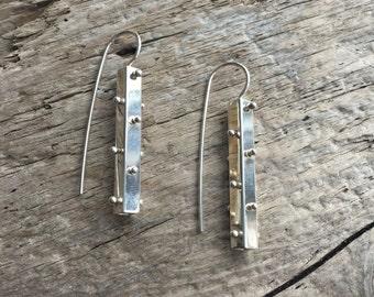 Sterling Spine dangle earrings