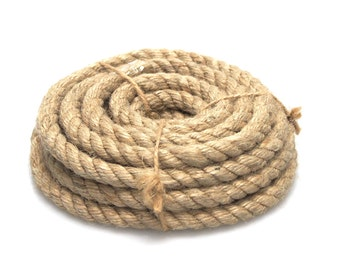 Natural Jute Fiber Twisted Rope, 10mm 12mm 16mm 20mm
