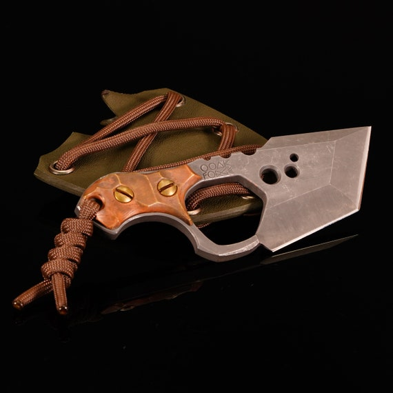 Tadpole Knife with Bronze Handle Scales