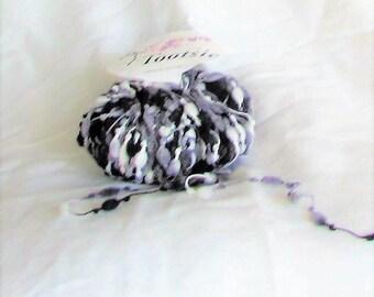 yarn, Tootsie 10, Trendsetter yarn, novelty yarn, black, white, grey, destash