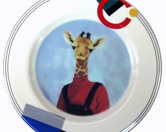 """Andrea Giraffe Portrait Plate 6.5"""""""