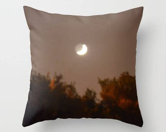 Moon And Woods Decorative Throw Pillow - Square pillow with\ without zipper