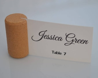 Blank Vertical Wine Cork Place Card Holders - Weddings - Parties Model 3