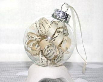 How the Grinch Stole Christmas! - Vintage Novel Ornament - Dr. Seuss - Christmas Ornament Holiday Decorations Home Decor Wedding Favors