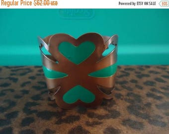 ON SALE Vintage  Wide Copper Bracelet 1950's 1960's Collectible Mad Men Mod Retro Cool Old Hollywood Glam Modernist Jewelry
