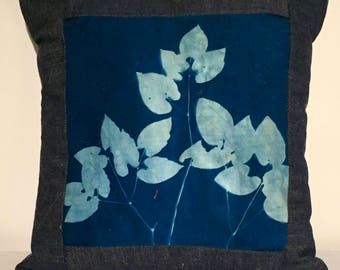 Barrenwort sun print pillow