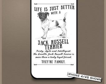 Jack Russell Terrier dog phone case cover iPhone Samsung ~ Can be Personalised