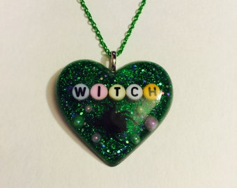 Witch Halloween Necklace