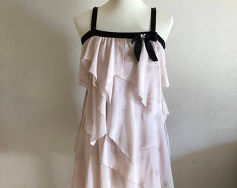Gorgeous Ethereal Pink Layered Tiered Dress - Vtng