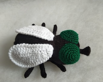 Ready made Knitted Fly Toy - Boy/Girl Toy, knitted insect