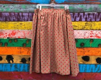 80s polka dot midi skirt