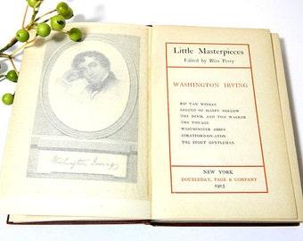 Antique Book Little Masterpieces Washington Irving 1903