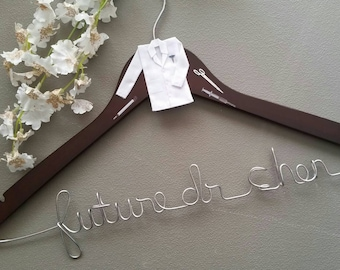 Personalized Future Doctor Hanger, New Graduate or The Soon to Be Doctor, 1st White Coat Hanger Ceremony, Gift for Future Doctors