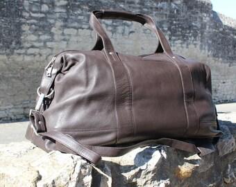 Leather weekender, leather duffle bag, gym bag cabin bag brown leather duffle brown leather weekender ,