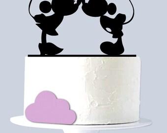 Mickey & Minnie Kissing Cake Topper A1064