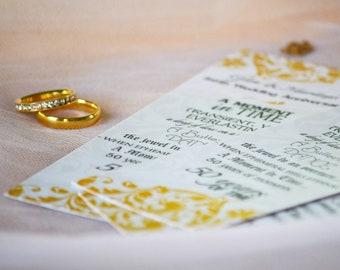 50th Anniversary Bookmark Set - Wedding Anniversary Bookmark Favors - Keepsake Bookmarks - Anniversary Favors - Golden Anniversary Bookmarks