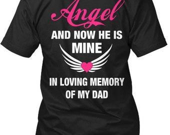 My Dad Is My Angel  Hanes Tagless Tee Tshirt