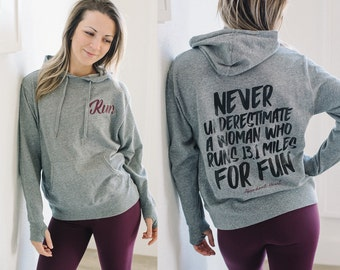 Run For Fun Sporty French Terry Hoodie // Gifts For Runners