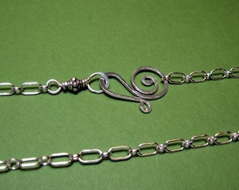 "JUST A CHAIN- 18"" long and short- sterling silver"