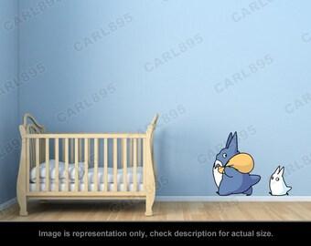 Totoro Inspired - Totoro Chu / Totoro Chibi Wall Art Applique Stickers
