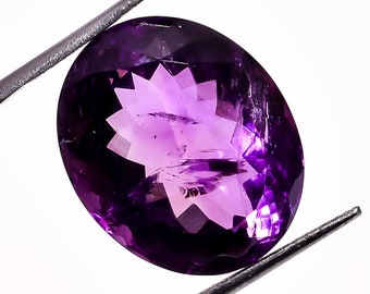 31.4 Ct. 100% Natural Amethyst Oval Faceted Loose Gemstone 22X18X13 mm HB-953
