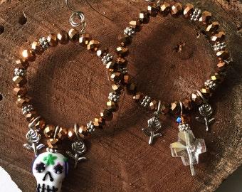 Dia de los Muertos Chandlier Earrings Wearable Art