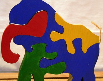 Colorful Elephant Puzzle