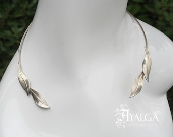 leaves torc necklace- statement jewelry