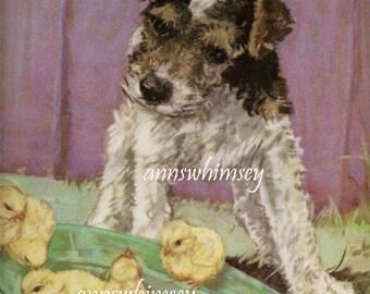 Dog Art, Dog Art Print, Nursery Art, Child's Room Art, Kitchen Art, Family Room Art #605  FREE SHIPPING