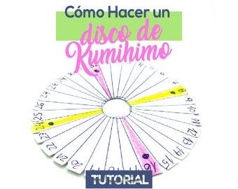 Cómo Hacer Un Disco Kumihimo Ebook PDF con Video Tutorial