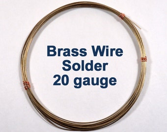 Brass Wire Solder - 20 Gauge - Choose Your Length