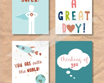 Instant Download Printable Children's Lunchbox / Love Notes