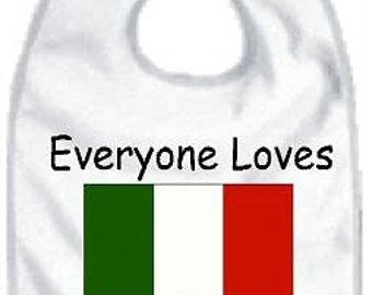 Italian baby bib, italian bib, italian baby shower, italian baby clothes, italian baby clothing, italian baby present