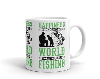 Father and Son Fishing Mug