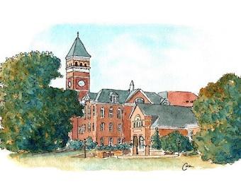 Clemson's Tillman Hall Watercolor Print