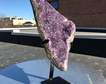 Amethyst Triangle Beautiful Crystal and Form on Stand Large 5.5kg