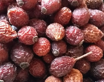 2 Cups / 8 oz Dried Whole Rose Hips Rosehips