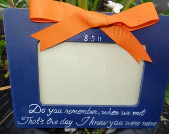 Black and White Quote Picture Frame Custom Designed Color Options