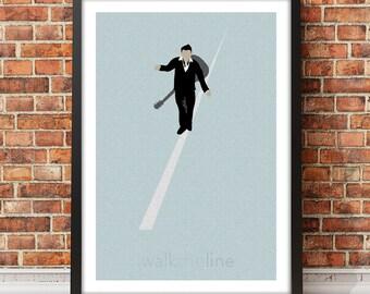 Johnny Cash - I Walk the Line inspired music art print
