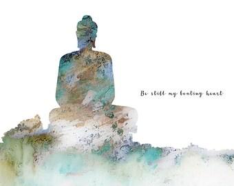 Buddha Print, Buddha Quote, Buddha Art Print, Buddhist Meditation, Buddha Art, Buddha, Buddha Wall Art, Yoga Print, Buddha Painting,