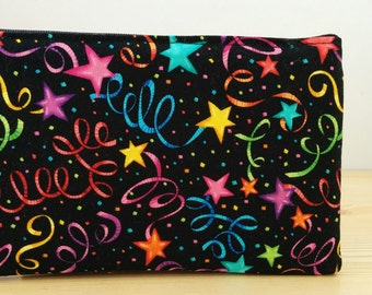 Children pencilcase, fabric pencil case, makeup bag, kids pouch, kids pencil, school pencil case, stars pouch,party pencil case
