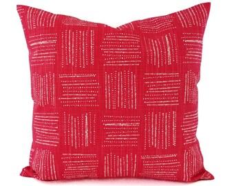 Two Pink Pillows - Deep Pink Throw Pillow - Custom Pillow Cover - Pink Pillow Sham - Decorative Pillow - 16 x 16 Pillow 18 x 18 Pillow
