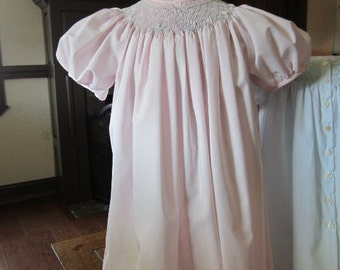 Girls Bishop Dress, Soft Pink, Imperial Batiste, size 3 to 4 years, #718