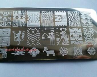 Nail stamping plate for stamping nail art- JQ-L11