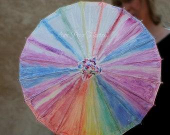 Parasol Tie-dye Flowergirl Parasol
